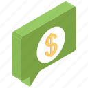 distress, financial chat, rectangle, seal, stamp icon