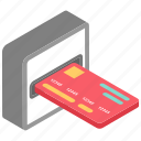 atm card, credit, finance, payment, withdrawal icon
