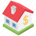 architecture, building, estate, home, property value icon