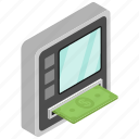 atm machine, bank, business, finance, payment icon