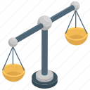 balance scale, criminal, decision, judgment, justice icon