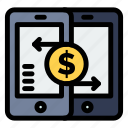 mobile, payment, payments, peer, smartphone icon