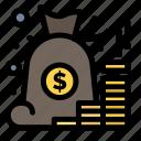 account, bag, management, money, saving