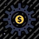 cogs, making, money, process, work