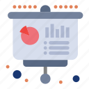 financial, chart, education, business, presentation icon