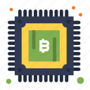 bitcoin, cryptocurrency, mining, power icon