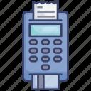 card, credit, finance, machine, payment, receipt