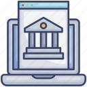 bank, browser, computer, laptop, online, webpage, website