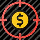 dollar, goal, money, target