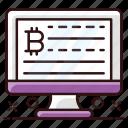 bitcoin, bitcoin data, bitcoin encryption, bitcoin web, data, digital currency, online bitcoin icon