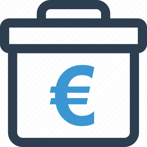 briefcase, business, case, euro, pro, professional, sign icon