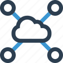 cloud, connect, connection, data, internet, online, web icon