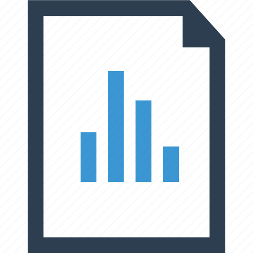 analytics, document, graph, layout, page, report icon