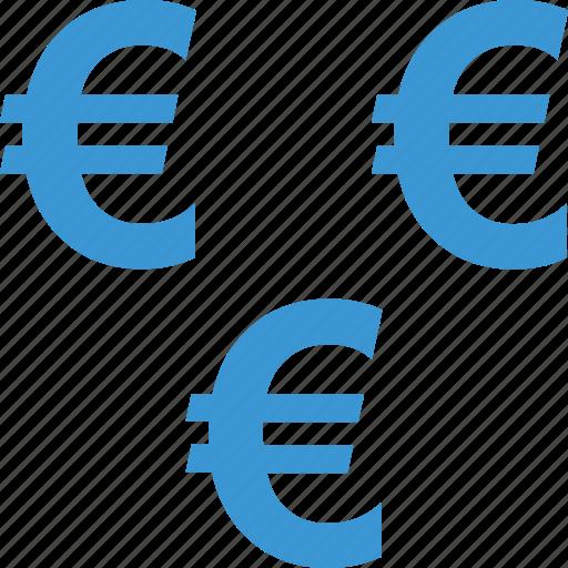 euro, income, money, multiple, passive, sign, wealth icon