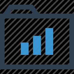 archive, chart, file, folder, graph, report, save icon