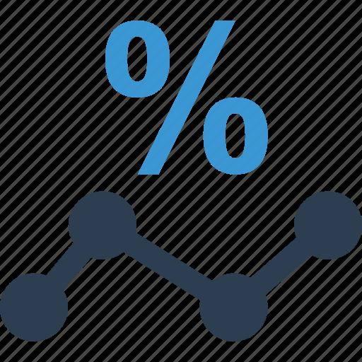 analytics, business, data, finance, graph, percentage icon