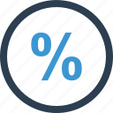 business, calculate, math, money, online, percent, percentage icon