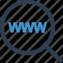 internet, magnifier, online, search, web, www