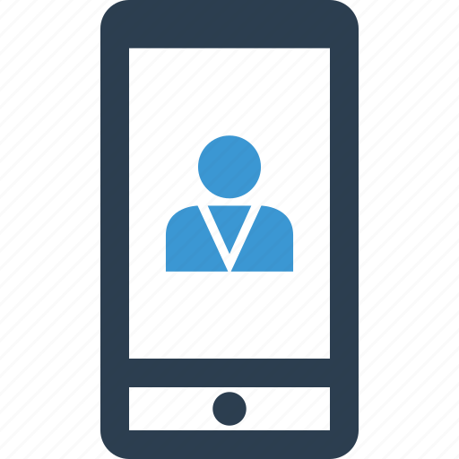activity, cell, mobile, person, phone, profile, user icon