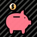 money, banking, piggy, bank, cash, finance, save