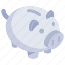 penny bank, piggy bank, money savings, piggy moneybox, cash box icon