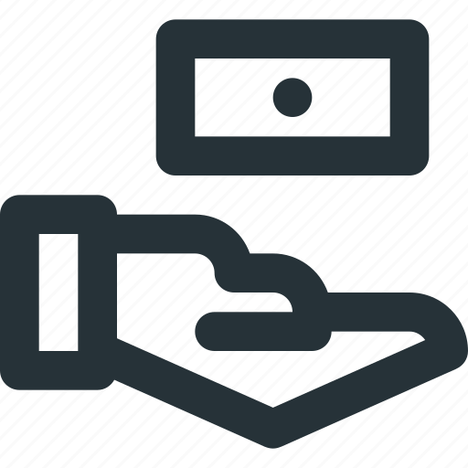 cash, hand, money, recieve, transaction icon