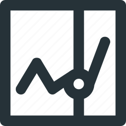 analytics, graph, report, statistics, timeline icon