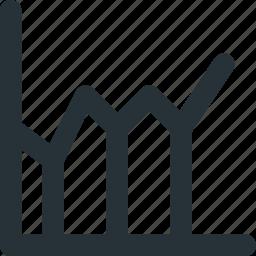 finance, graph, grid, progress, statistics icon