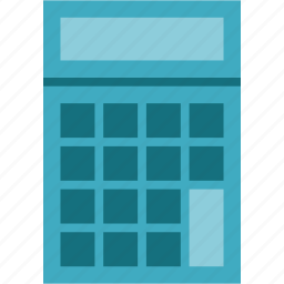 calc, calculator, calculator machine icon