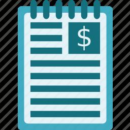 binder, journal, logbook, notebook, notepad icon