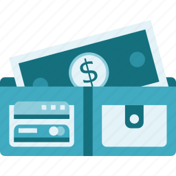 cash, money, notecase, pocketbook, wallet icon