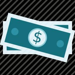 cash, dollar bills, money, payment, rich icon