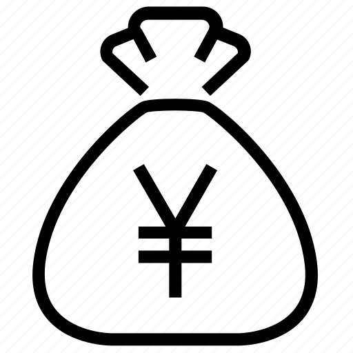 bag, budget, cash, finance, money, money bag, yen icon