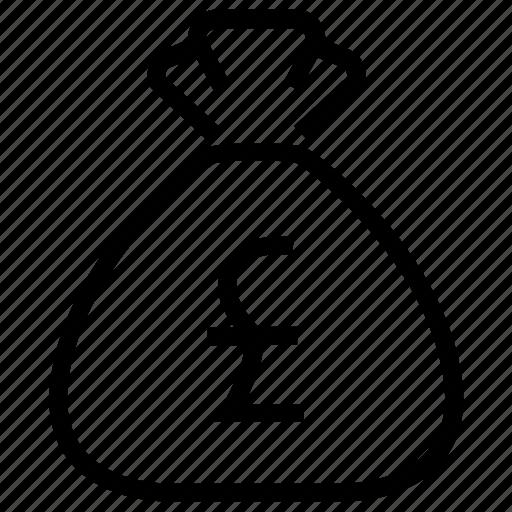 bag, budget, cash, dollar, money, money bag, pound icon