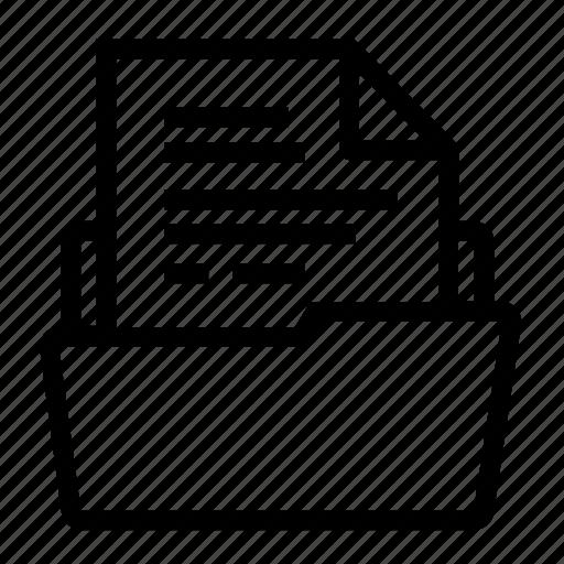 document, file, financial folder, fold, folder, infomation, storage icon
