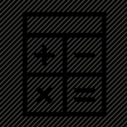 account, calculator, function, negative, plus, sign, symbol icon