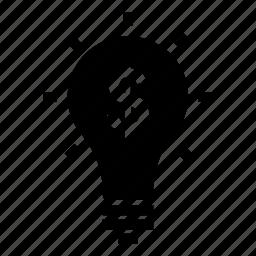 blub, bright, idea, lightbulb, solution icon