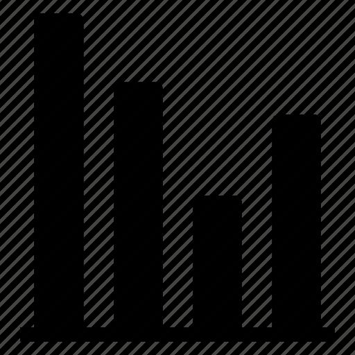 columns, graph, infographic, progress, schedule, • chart icon