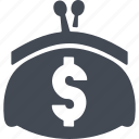 cash, dollar, finance, money, purse icon