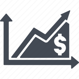 business, currency growth scale, dollar, finance, money icon