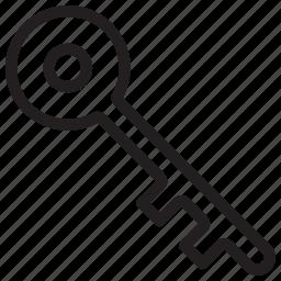 key, locked, protect, safe, safety icon