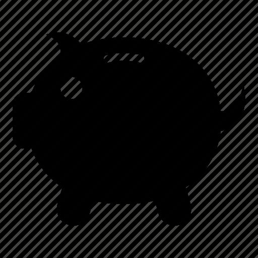 bank, coin, finance, guardar, money, piggy, save icon