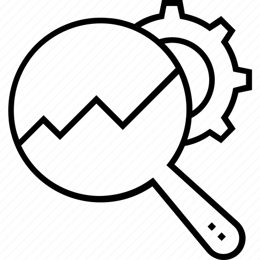 cogs, magnifier, preferences, processing, settings icon
