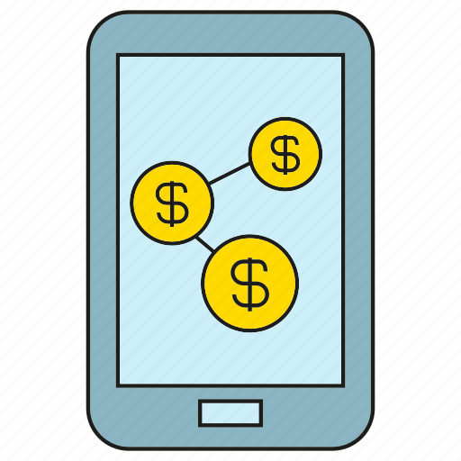 finance, link, loan, mobile, money, phone icon