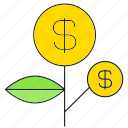 finance, growth, investment, money, seed icon