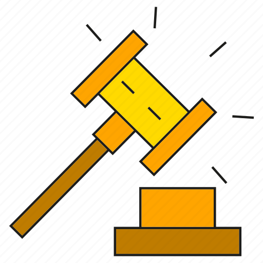 bid, gavel, hammer, justice, tender icon
