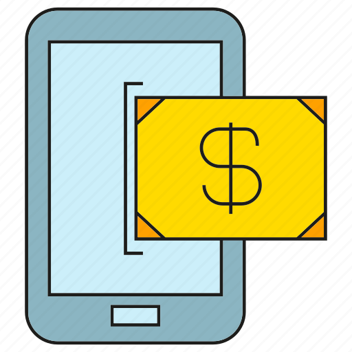 finance, mobile, money, payment, phone icon