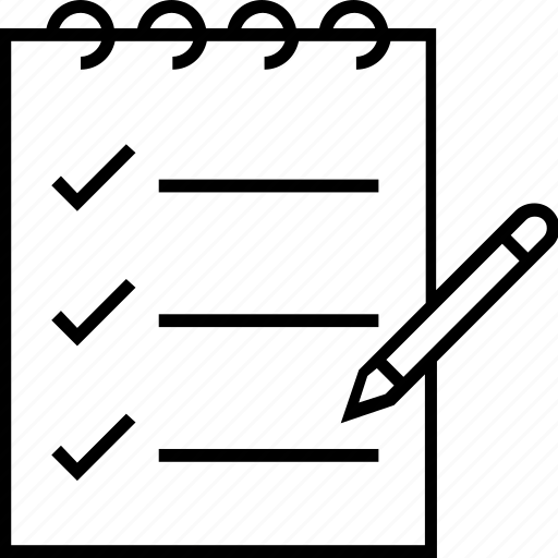 checklist, clipboard, list, pencil, to do icon