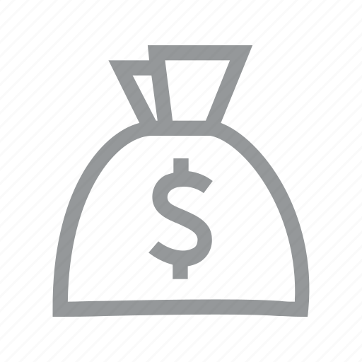 bag, currency, dollar, finance, konnn, money, sign icon