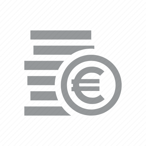 coin, currency, euro, finance, konnn, money, sign icon